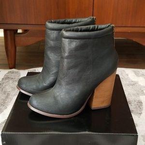 TORRID block heel booties - wide